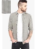 Black Checked Casual Shirt Selected