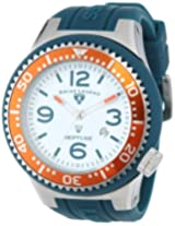 Swiss Legend Men's 21818S-F-MD Neptune White Dial Dark Green Silicone Watch