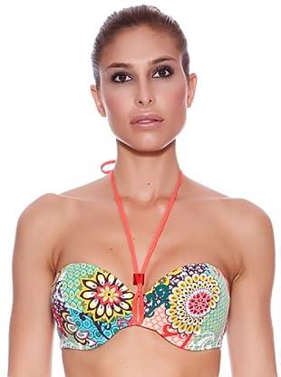 Carey Sujetador de Bikini Caribe (Multicolor)
