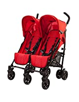 guzzie+Guss Twice Double Umbrella Stroller, Red