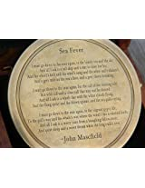 "Solid Brass Poem Compass 3"" with Hard Wood box Engraved Poem"
