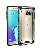 Galaxy S6 Edge Plus Case, POETIC Affinity Series [Premium Thin]/No Bulk/ Protection where its needed/Clear/Dual Material Protective Bumper Case for Samsung Galaxy S6 Edge Plus (Black/Clear)
