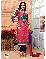 New Designer Pink And Blue Salwar Suit FA221-8206
