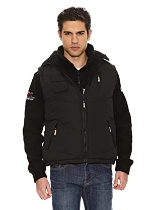 Geographical Norway Chaleco Vagon New (Negro)
