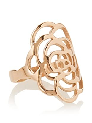 Chloe Collection By Liv Oliver Rose Open Flower Ring,