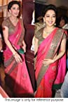 Bollywood Replica Madhuri Dixit Georgette and Raw Silk Saree In Pink Colour 272