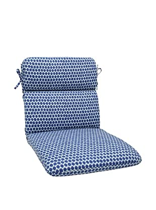 Pillow Perfect Outdoor Seeing Spots Rounded Corner Chair Cushion, Navy