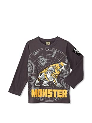 Monster Republic Boy's Charted Wilderness Tee (Grey)