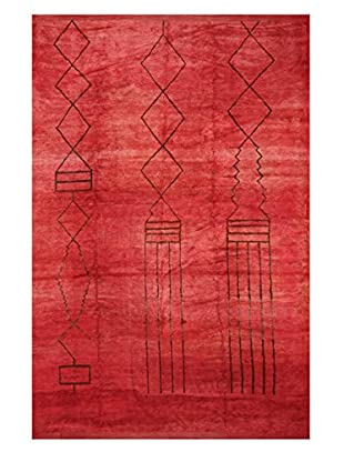 nuLOOM One-of-a-Kind Hand-Knotted Vintage Moroccan Berber Rug, Red, 9' 10