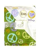 2 Ply Peace Love and Hugs Crib Throw Blanket
