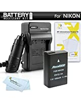 Battery And Charger Kit For Nikon D5300 D3300 D5200 P7700 D5100 D3100 D3200 Nikon Df Digital SLR Camera Includes Extended (1500Mah) Replacement For Nikon EN-EL14. EN-EL14a Battery (Fully Decoded!) + Ac/Dc Travel Charger + MicroFiber Cloth + More