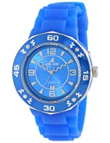 Adee Kaye Women's AK5567-L/BU Electrico Collection Colored Silicon With Aluminum Bezel Japan Date Movement Blue Watch