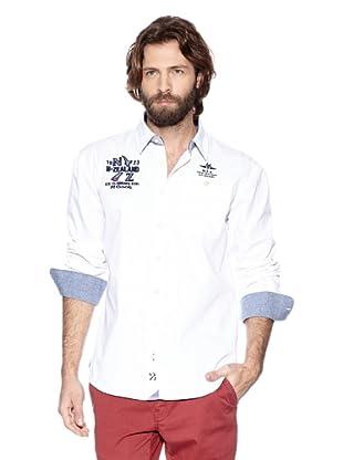 NZA New Zealand Auckland Camisa Manga Larga Cefalú (Blanco)