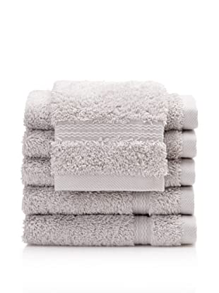 Royal Ascot by Chortex Set of 6 Wash Cloths, Silver
