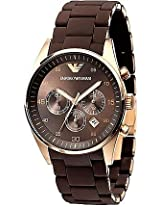 Emporio Armani Brown Stainless Steel Analog Men Watch AR5890