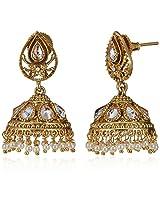 Ava Jhumki Earrings for Women (Golden) (E-SD-F1181)