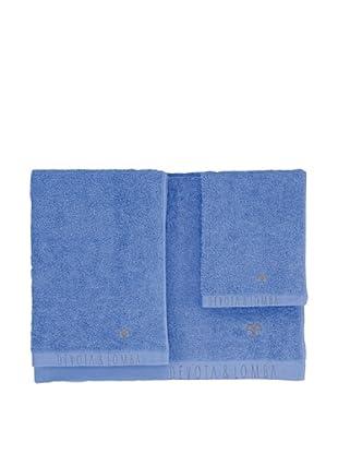 Devota & Lomba Juego 3 Toallas Totem (Azul)