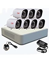HIKVISION 8CH DVR 7pcs LIO 800TVL BULLET CAMERA COMBO WITH 2 YEAR WARRANTY
