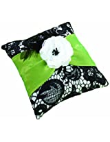 Lillian Rose Ring Pillow, 7-Inch, Green and Black