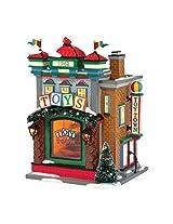 Department 56 Original Snow Village Toy Town Toys Lit House, 8.66-Inch