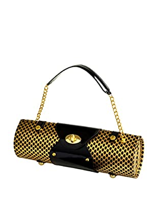 Picnic at Ascot Wine-Carrier Purse (Gold/Black)