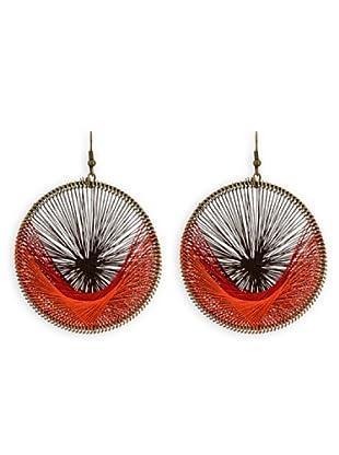 Fashion Victime Orecchini Guadalupe chiusura ad Amo marrone arancio rosso