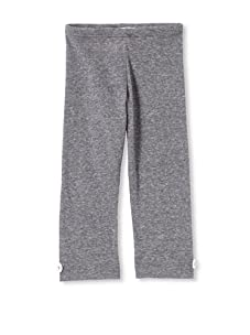 Upper School Girl's Legging with Buttons (Heather Grey)