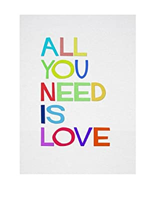 Lienzos Decoración Vertical All You Need Is Love