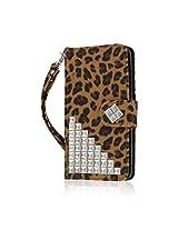 BLU Studio 5.0 S II Wallet Case, MPERO FLEX FLIP Wallet Case for BLU Studio 5.0 S II - Studded Leopard
