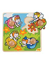 Bigjigs Toys BJ523 My First Peg Puzzle Fairy