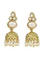 Traditional Indian Handmade Jewelry Set Glowing Jhumki Earring SetSHEA0270WH