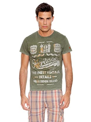 Pepe Jeans London Camiseta Iden (Verde)