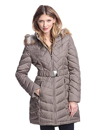 Laundry by Shelli Segal Women's Long Puffer Coat (French Olive)
