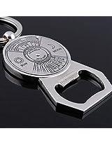 Metal Sun Moon Compass Calendar Beer Bottle Opener Keychain