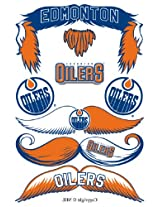 StacheTATS Edmonton Oilers Temporary Mustache Tattoos