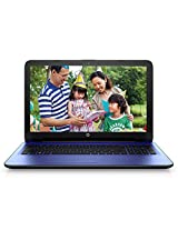 HP 15-ac121TU 15.6-inch Laptop (Core_i3_5005u/4GB/1TB/Intel HD Graphics 5500), Nobel Blue Colour with Diamond and Cross Brush Pattern