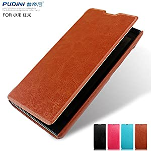Pudini® Xiaomi Redmi 1S RUI PU Leather Series Flip Cover (Brown)