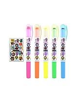 Nameko Growing Mushroom Twist Type Gel Stick Neon Highlighter : 5 Color Set