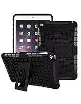 Generic Kickstand Hard Dual layer Rugged Hybrid Armor back case cover for Apple iPad Mini 4 - Black