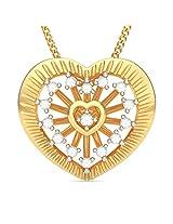 BlueStone Bloom Collection 18k Yellow Gold and Diamond Ladonna Pendant