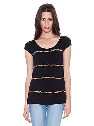 Santa Bárbara Camiseta Con Cadena (Negro)