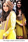 Bollywood Replica Kareena Kapoor Georgette Anarkali Suit In Yellow Colour VND 36