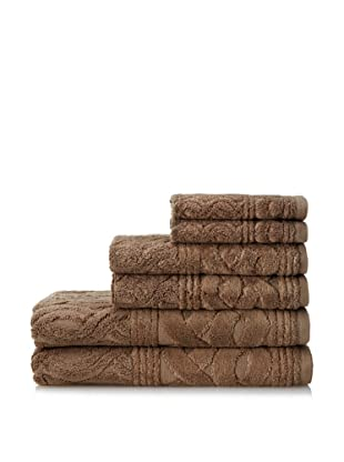 Espalma 6-Piece Chainlinks Towel Set, Stucco