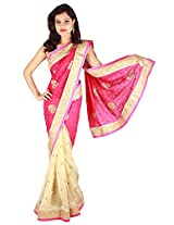 Shubh Embroidered Saree (Pink)_SASF0066