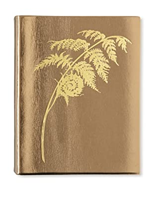 Sweet Bella Leather-Bound Fern Portrait Album, Bronze/Gold