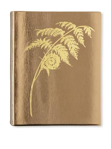 Sweet Bella Leather-Bound Fern Portrait Album, Bronze/Gold
