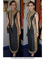 Bollywood Replica Karisma Kapoor Satin Suit In Black Colour NC805