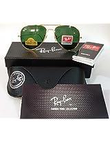 Brand New Ray Ban Green Aviator 100% Genuine Mens Sunglass