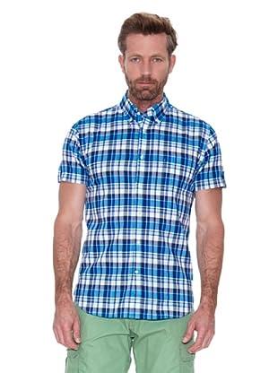 Cortefiel Camisa Cuadros Tipo Madras (Azul)