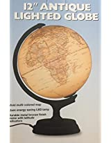 Antique Finish Lighted Globe 12 Inch